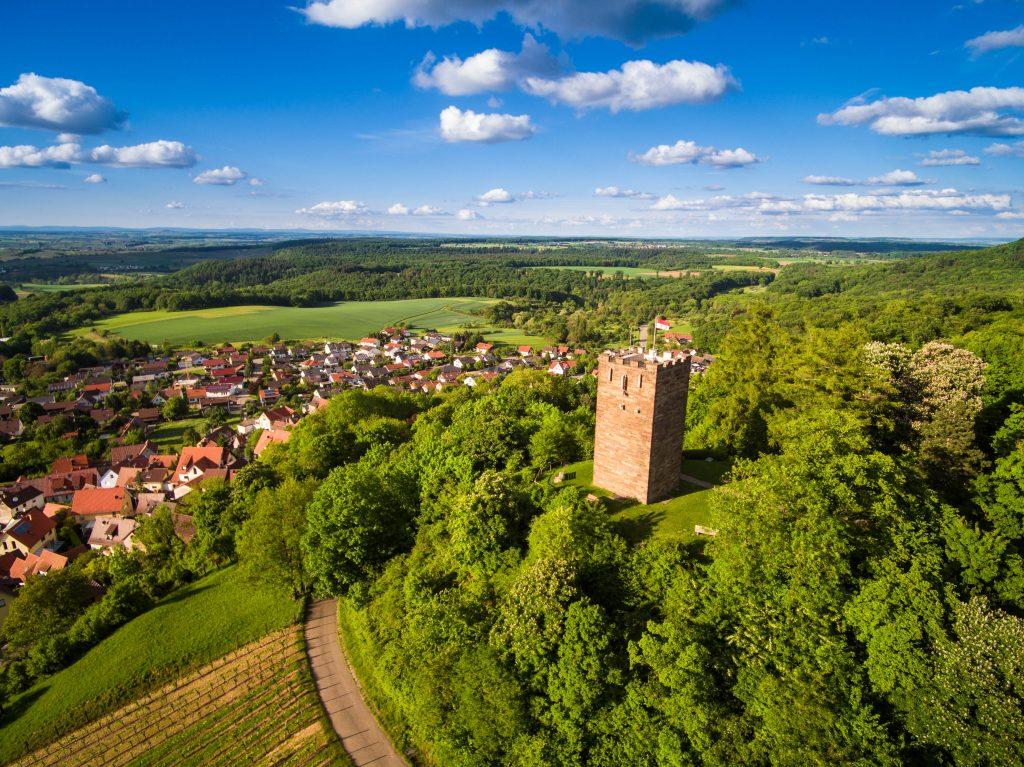 Luftbild Sternenfels Turm